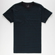 BLUE CROWN Duo Mini Stripe Mens T-Shirt