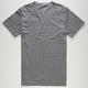 BLUE CROWN Duo Mini Stripe Mens T-Shirt