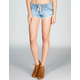 BILLABONG Lite Heart Womens Lace Up Denim Shorts