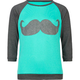 FULL TILT Mustache Girls Baseball Tee