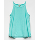 BOZZOLO High Neck Aqua Girls Tank
