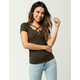 BOZZOLO Strappy Neck Womens Tee