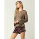 FULL TILT Floral Paisley Womens Ruffle Shorts