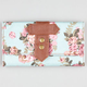 Floral Print Canvas Wallet