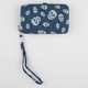 Chambray Skull Cell Phone Wallet