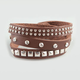 FULL TILT Stone Studded Faux Leather Wrap Bracelet