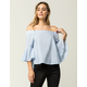 IRIS Bell Sleeve Womens Off The Shoulder Top