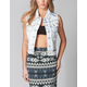 LOST Superstar Womens Bleached Denim Vest