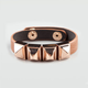 FULL TILT Pyramid Stud Faux Leather Bracelet