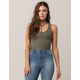 BOZZOLO Y-Neck Crop Womens Tank Top