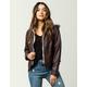 JOU JOU Fur Lined Womens Faux Leather Jacket