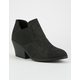 QUPID Elastic Side Womens Booties
