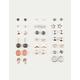 FULL TILT 20 Pairs Glitter Stud Earrings