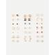 FULL TILT 20 Pairs Marble & Star Stud Earrings
