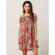 OTHERS FOLLOW Smocked Womens Dress