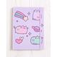 PUSHEEN Pastel Flocked Journal