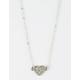 FULL TILT Rhinestone Heart Dainty Necklace