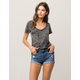 OTHERS FOLLOW Ripped Womens Denim Shorts