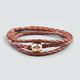 FULL TILT Faux Leather Braid Wrap Bracelet