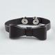 Bow Snap Faux Leather Bracelet