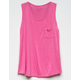BOZZOLO Pink Girls Pocket Tank