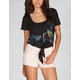 FULL TILT Tropic Tie Front Womens Tee