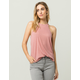BOZZOLO Pink High Neck Womens Tank