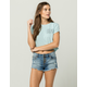 BILLABONG Buttoned Up Womens Ripped Denim Shorts