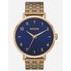 NIXON Arrow Gold & Navy Watch