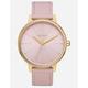 NIXON Kensington Leather Gold & Pink Watch