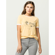 ROXY Golden Sun Womens  Ringer Tee