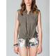 FULL TILT Lace Back Womens Tie Front Shirt