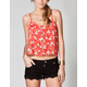 FULL TILT Cross Back Button Front Womens Top