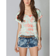 FULL TILT Lattice Back Womens Tie-Dye Top