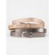 Solid & Sparkle Belt 2 Pack