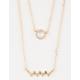 FULL TILT Gold Crystal Layer Necklace