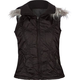 ASHLEY Fur Hood Womens Puffer Vest