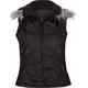 ASHLEY Fur Hood Womens Puffer Vest