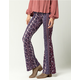 PATRONS OF PEACE Linear Floral Womens Flare Pants