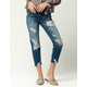 SKY AND SPARROW Ripped Fray Womens Crop Jeans