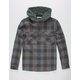 QUIKSILVER The Magston Mens Hooded Flannel Shirt