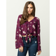 SOCIALITE Floral Tie Front Womens Top