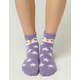 FULL TILT Owl Chenille Ankle Socks