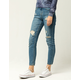 SKY AND SPARROW Ripped Womens Ankle Jeans