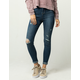 IVY & MAIN High Waisted Womens Ripped Ankle Cuff Jeans