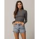 VOLCOM Stoned Short Rolled Womens Denim Shorts