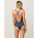 O'NEILL Salt Water Charcoal One Piece Swimsuit