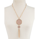 FULL TILT Double Circle Tassel Necklace