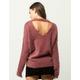 IVY & MAIN Furry Open Back Womens Sweater