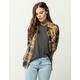 FULL TILT Mustard Womens Plaid Shirt